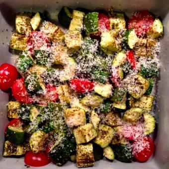 Warm Zucchini and Tomato Salad with Za'Atar