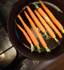 Let the carrots brown a little and avoid stirring too much.